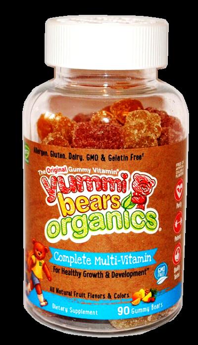 Yummi Bears® Organics Мултивитамини и минерали ПЛЮС 90 ct
